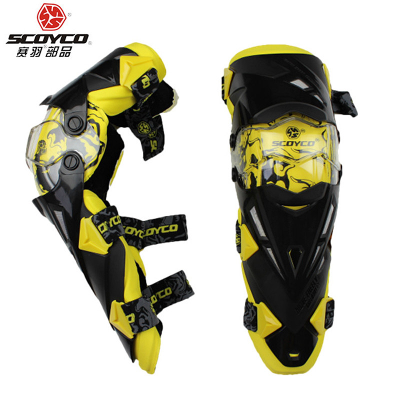 Мотонаколенники Scoyco K12 Yellow