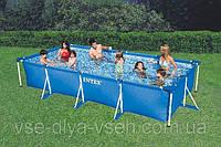 Прямоугольный каркасный бассейн Small Rectangular Frame Pools 450х220х84см Intex 28273, фото 1