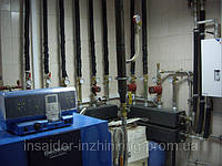 Монтаж напольного газового котла. Киевская область