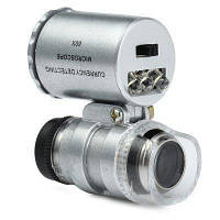 Карманный микроскоп  60X с LED и ультрафиолетовой подсветкой