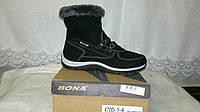 Сапожки-ботинки женские Bona. Натуральная замша. Зима. Оптом.