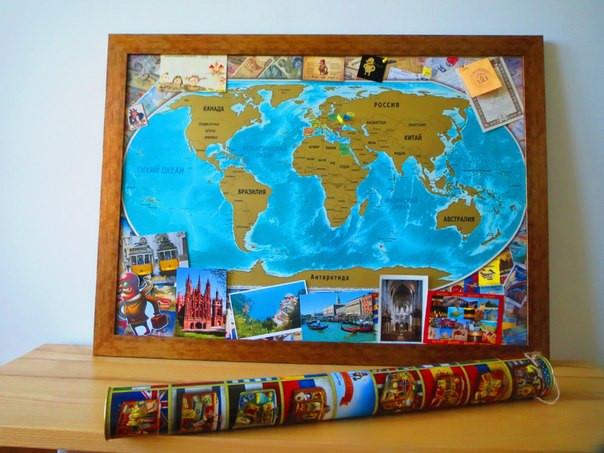 Цветная скретч карта Мира