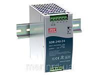 SDR-240-24 Блок питания Mean well 240вт, 24в,10A Din-рейка