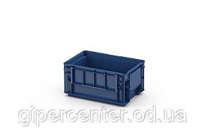 Пластиковый ящик R-KLT 3215 с перфорированным дном (297х198х147.5 мм) темно синий