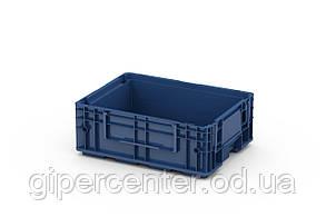 Пластиковый ящик R-KLT 4315 с перфорированным дном (396х297х147.5 мм) темно синий