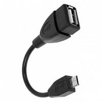 OTG кабель  переходник  microUSB to USB