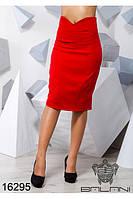 Красная облегающая юбка карандаш Balani (42,44,46)