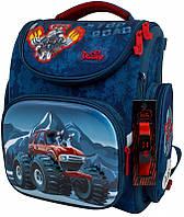 Рюкзак Delune 3-154 школьный детский для мальчиков рюкзачек для сменки и часы в подарок 30см х 16см х 36см