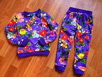 Спортивный костюм в цветочек для малышей.