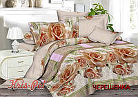 Евро макси набор постельного белья из Ранфорса №181714 KRISPOL™