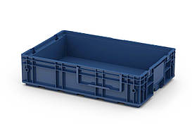 Пластиковый ящик R-KLT 6415 с усиленным дном (594х396х147 мм) темно синий