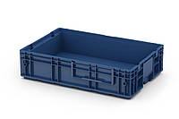 Пластиковый ящик R-KLT 6415 с перфорированным дном (594х396х147 мм) темно синий