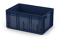 Пластиковый ящик R-KLT 6429 с перфорированным дном (594х396х280 мм) темно синий