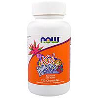 Детский витаминно-минеральный комплекс, Kid Vits Berry Blast Now Foods (120 Chewables)
