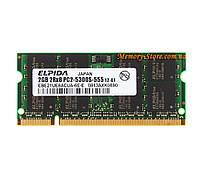 Оперативная память для ноутбука DDR2 SODIMM 2Gb, Elpida, 667MHZ