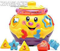 Музыкальный горшочек сортер Joy Toy