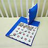 """Набор для коляски плед Minky + подушка,""""Якорек"""", синий, фото 3"""