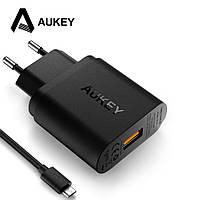 Универсальное умное зарядное устройство Aukey PA-T9 18W Quick Charge 3.0 Быстрая зарядка + кабель 1м