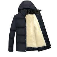 Мужская куртка на меху в наличии, сезон осень-зима, чёрный! РАЗМЕР 46-52