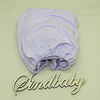 Детская простынь на резинке в люльку, Фиалка 72х72 см