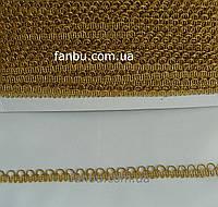 """Золотая тесьма """"полукольца""""металлизированная, ширина 1.3см(1 упаковка 18м)"""