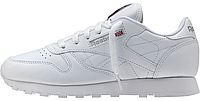 Женские кроссовки Reebok Classic Leather All White (Рибок) белые