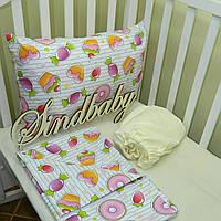 Комплект детского белья в кроватку 01