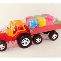 Автомобиль Трактор с бочками в сетке Bamsic 007/5