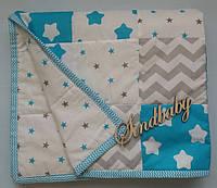 Детское одеяло пэчворк 90х120см