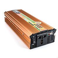 Автомобильный инверторь напряжения 24V-220V 2000W