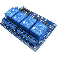 Модульные реле 4-Channel 5V Relay Module for Arduino Wze