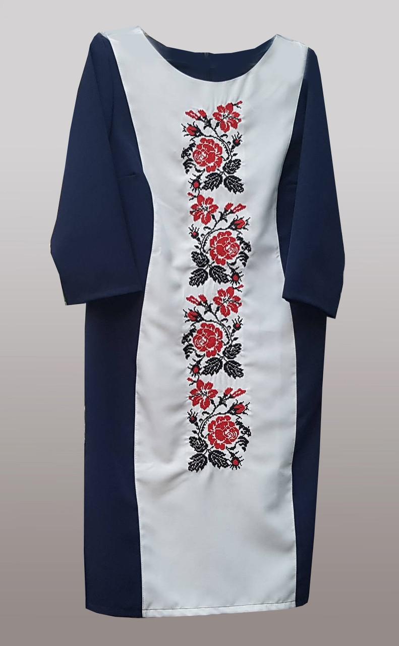 Вышитое платье из ткани габардин