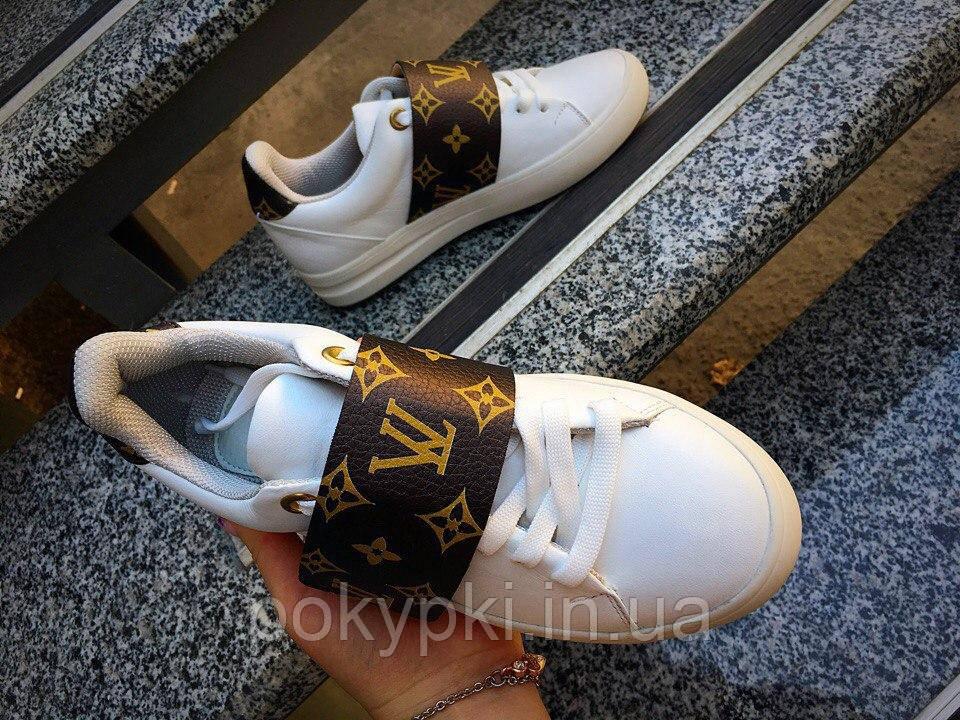 Кеды женские с толстой липучкой Louis Vuitton размер 40 качественная копия луи  витон женская обувь - 26d8145feec