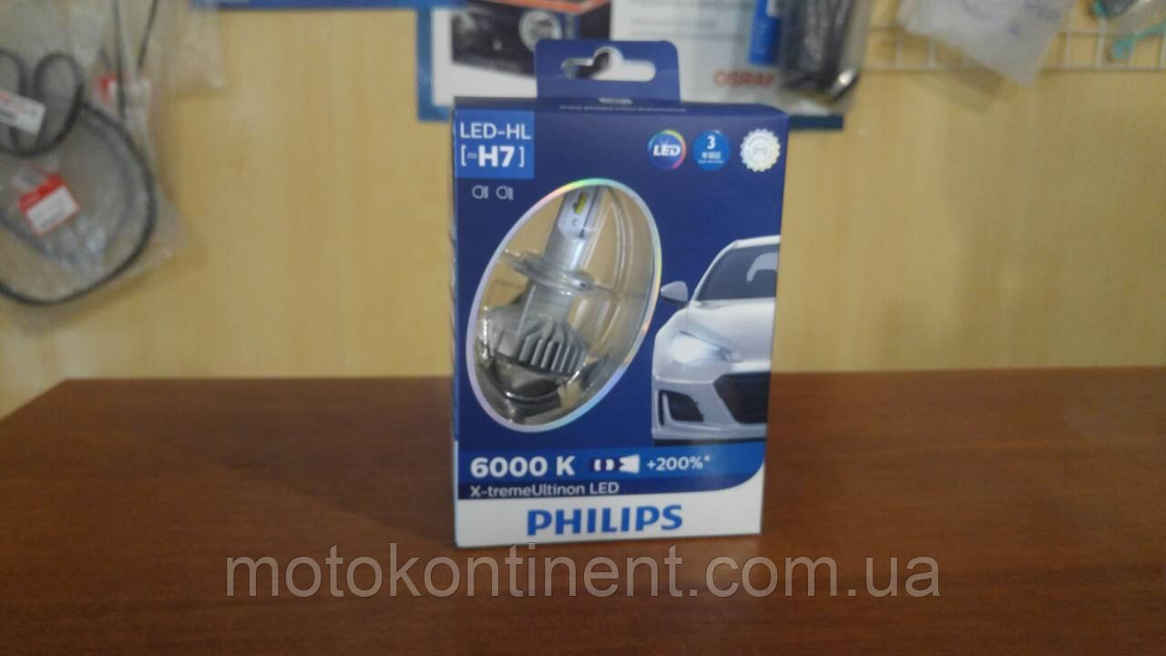 H7 LED Cветодиоды в ближний/дальний  PHILIPS X-treme Ultinon LED Fog 6500K 12985BWX2