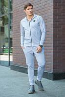 Мужской костюм №1504 р. S-XL светло-серый