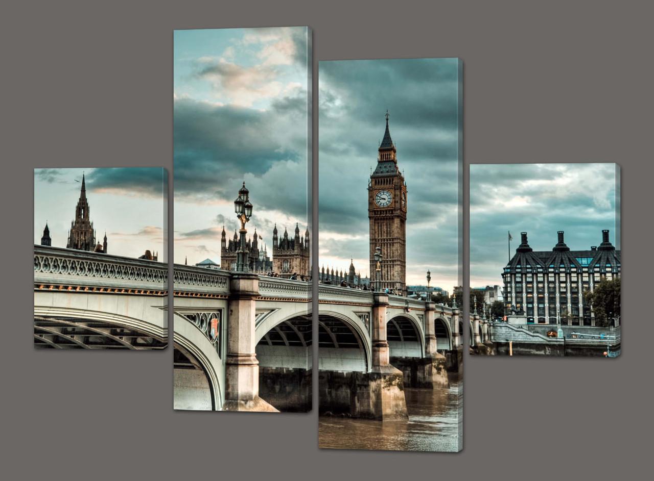 Модульная картина Мост 126*93 см