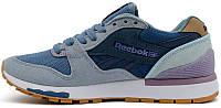Женские кроссовки Reebok GL 6000 Athletic Navy Royal Violet (Рибок) синие