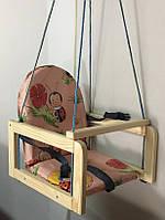 Детские деревянные подвесные качели М V-701-1 Vivast, абрикосовый