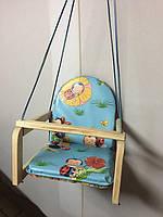 Детские деревянные подвесные качели М V-701-2 Vivast, голубой