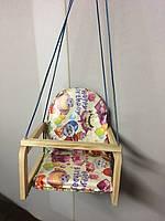 Детские деревянные подвесные качели «Happy Birthday» М V-701-11 Vivast