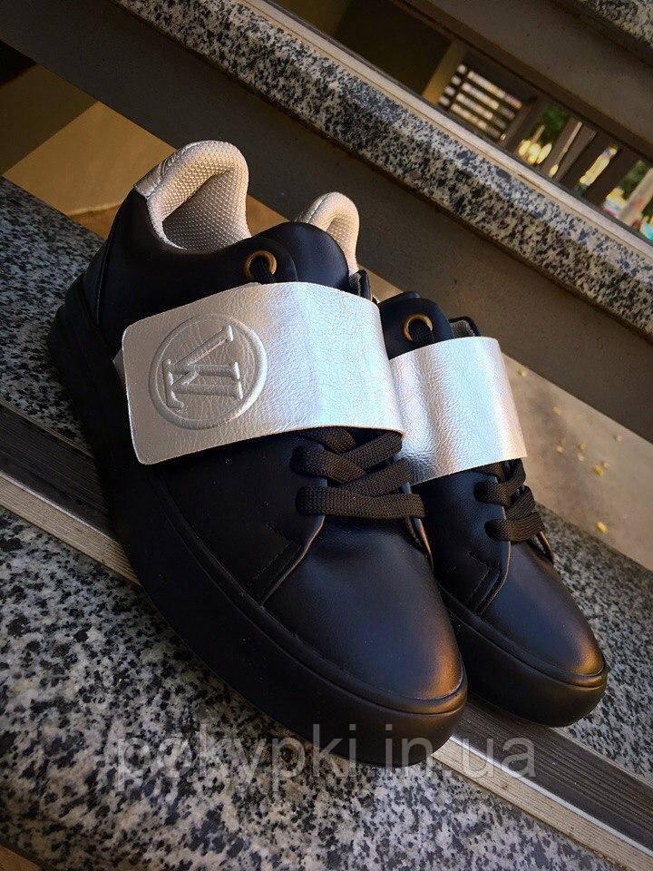 4e02dd93d210 Кеды слипоны женские шнуровка сверху липучка Louis Vuitton качественная  копия луи витон женская обувь -