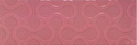 Плитка облицовочная Porcelanite Dos Ceramica 7509 Rosa Relieve 25 X 75, фото 2