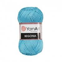 Пряжа 100% хлопок YarnArt Begonia 50г /169м, цвет 0008