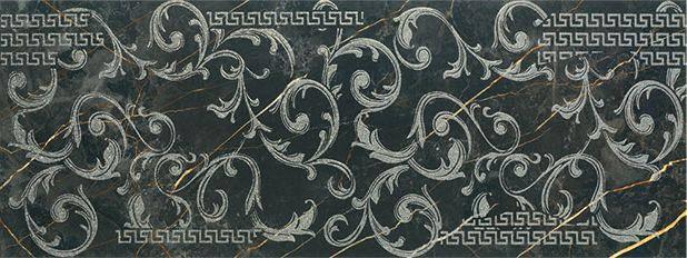 Декор Porcelanite Dos Ceramica 1320 Negro Decor Roma 48 X 128 /Р202, фото 2