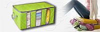 Кофр для хранения вещей с разделителями (60х35х30см) салатовый