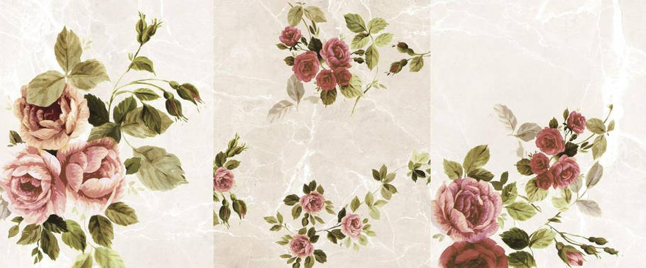 Декор Marconi Ceramica Emperador Beige Rosa Decor 25 X 60, фото 2