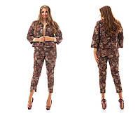 Стильный  женский костюм двойка турецкий джинс  Размер: 48-62