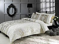TAC Hazel gri сатин семейный комплект постельного белья р-504536