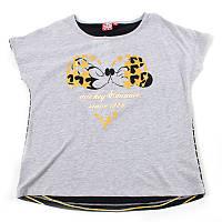 """Футболка для дівчинки """"Disney. Minnie Mouse"""" (Зріст 152, Сірий з чорним)"""