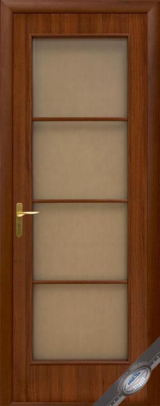 Двері ДВП 800 мм Вікторія Горіх з малюнком